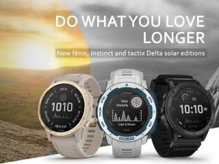 Garmin Launches Solar Editions of its Popular Smartwatches
