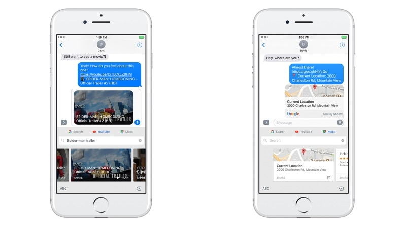 Gboard App for iOS Now Features YouTube and Maps Integration