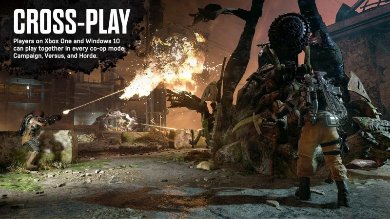 Gears of War 4 Cross-Platform Multiplayer Trial for Xbox One