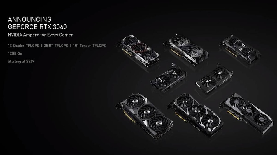Nvidia GeForce RTX 3060 Desktop GPU Launched at CES 2021, Officially Priced at Rs. 29,500