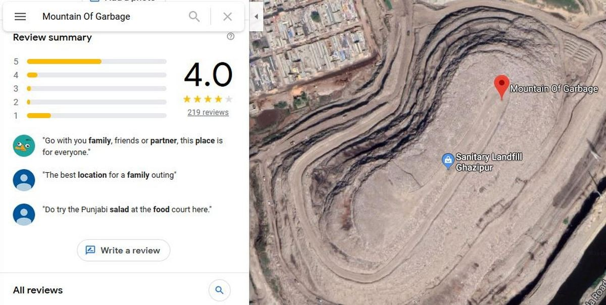 A Delhi Garbage Dump Is Getting Rave Reviews on Google