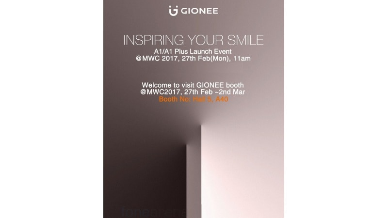 Gionee A1, A1 Plus to Launch on February 27 at MWC 2017; Images, Price, Specifications Leaked