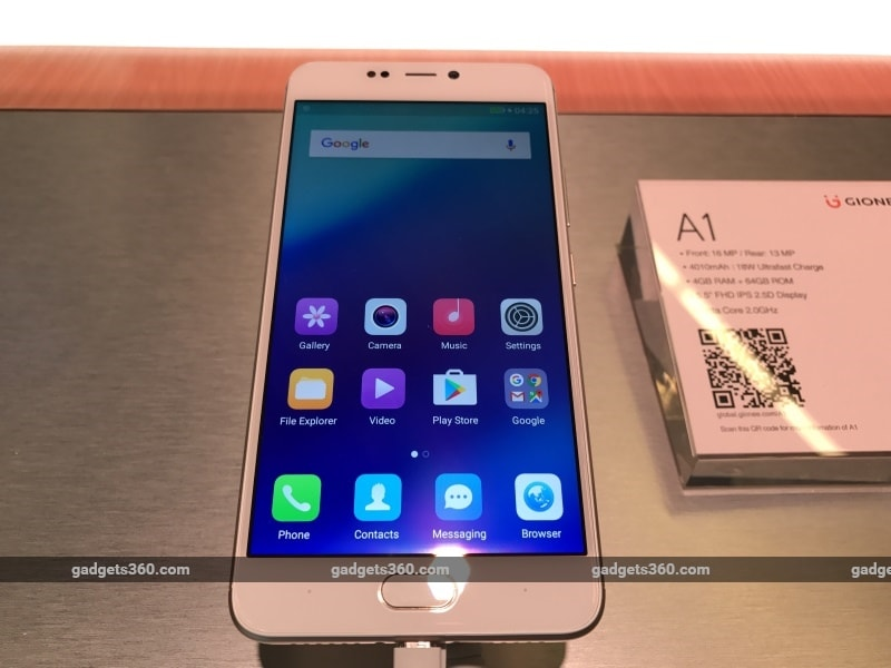 Gionee A1 Price in India Revealed as Rs. 19,999, Offline Pre-Bookings Start March 31