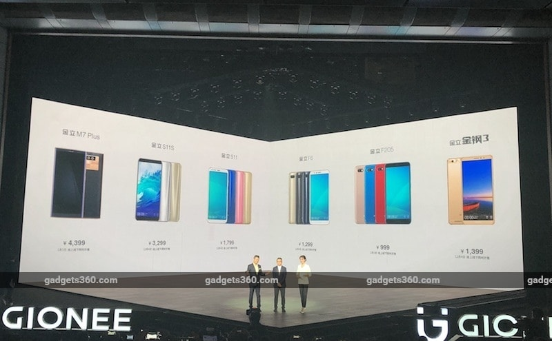 Gionee S11, Gionee S11S, Gionee M7 Plus, Gionee F6, Gionee F205, Gionee M7 Mini Launched: Price, Specifications, and More