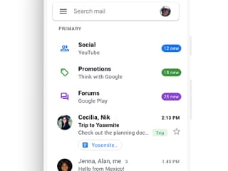 Gmail's Mobile App Starts Receiving Material Theme Redesign, No Dark Mode in Sight