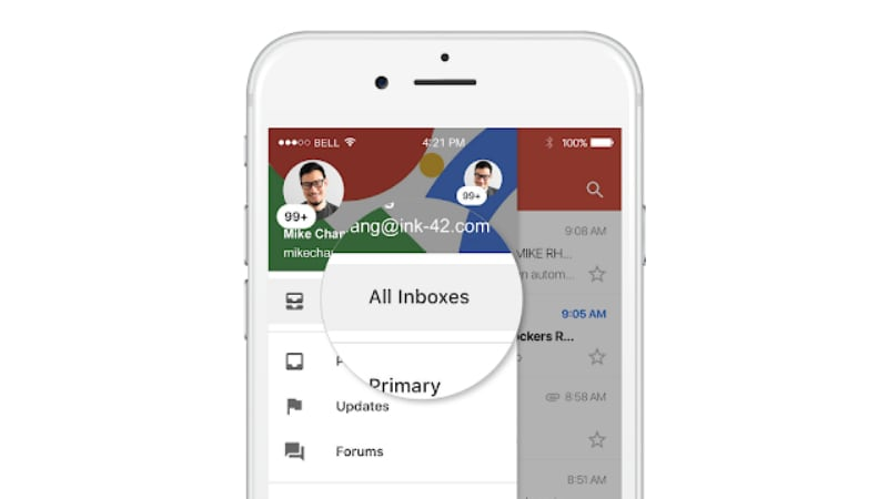 Gmail for iOS Gets the Ability to View Multiple Accounts in the Same Tab