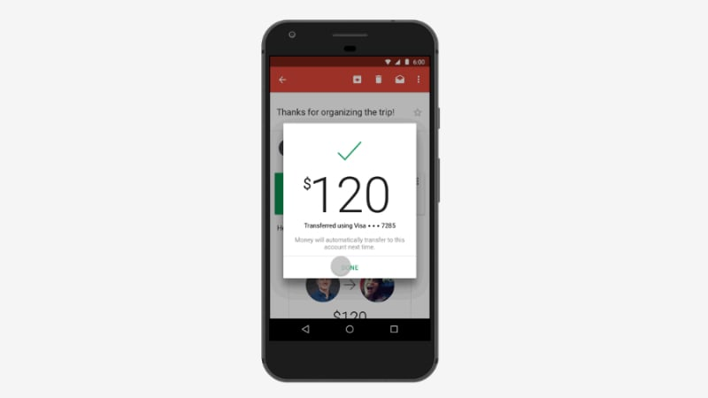 Gmail for Android Now Lets You Send Money via Email Attachment