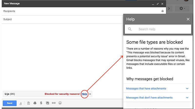 Gmail will start blocking JavaScript attachments in Febraury