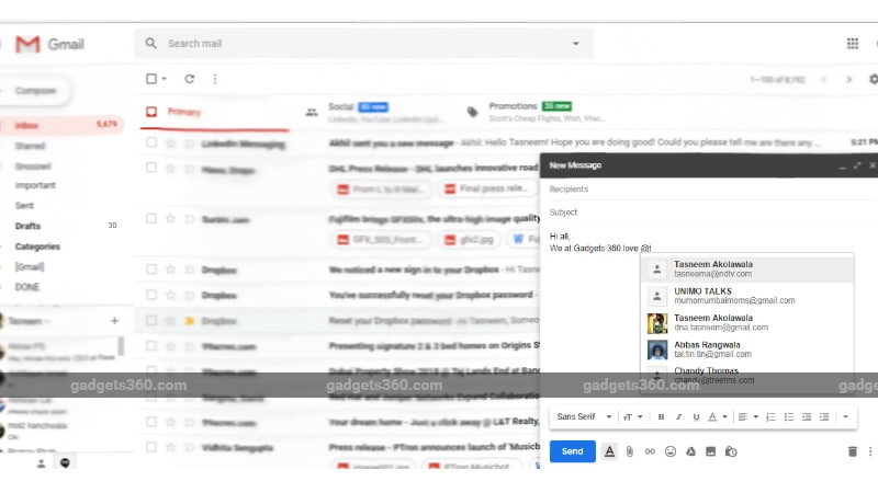 Gmail Rolls Out @Mentions for Web, Expected Soon on Mobile