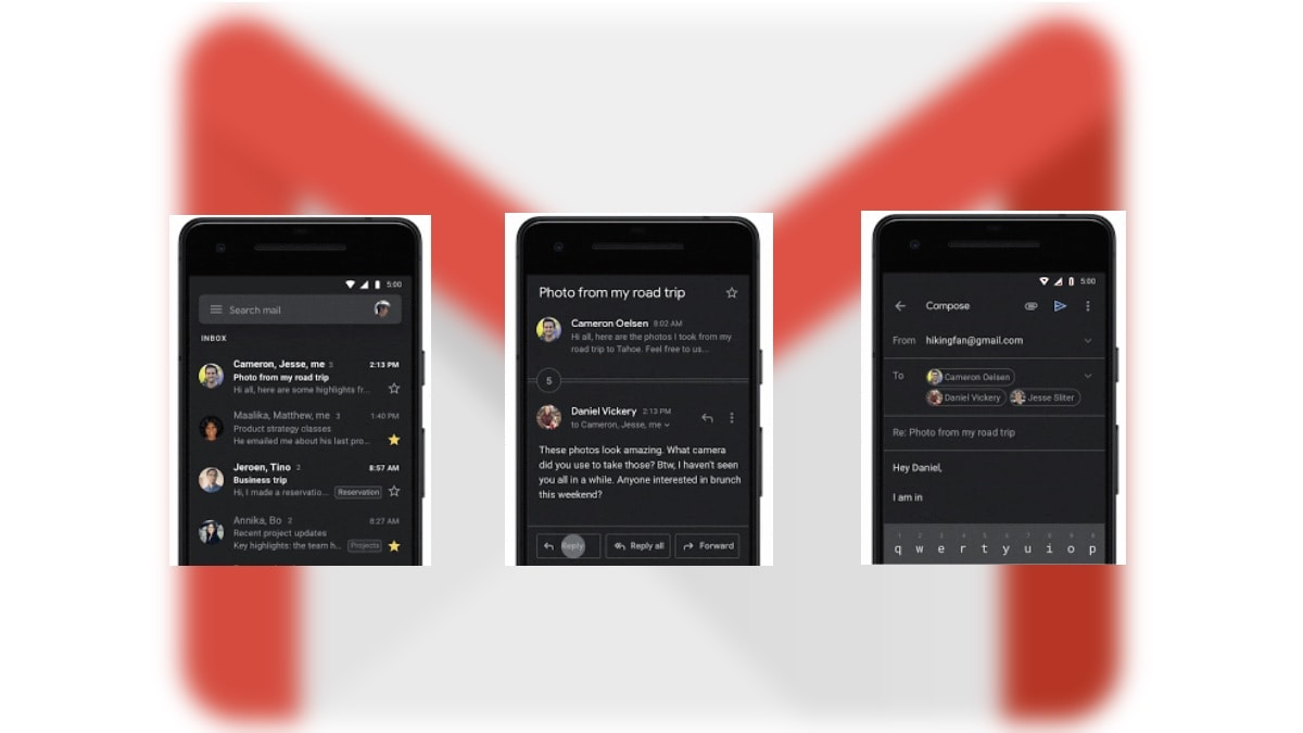 Gmail Dark Theme Now Rolling Out on Android and iOS