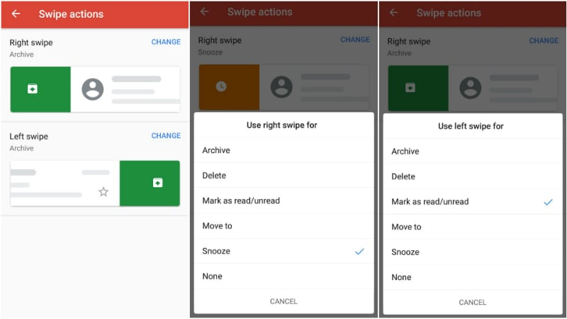 Gmail for Android is Finally Going to Let You Customize Swipe Actions