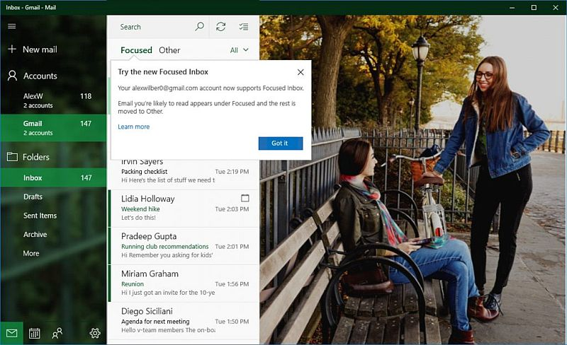Microsoft rolls out expanded support for Gmail accounts for Windows 10