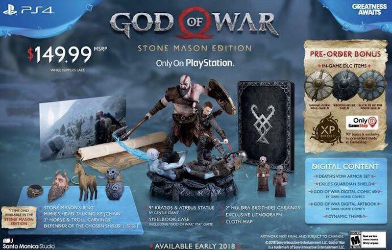 God of War: Stone Mason Edition Revealed by GameStop