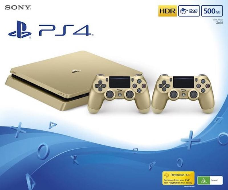 PS4 Slim Limited Edition Gold and Silver Now Available In India
