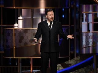 Golden Globes 2020: Ricky Gervais Roasts Apple, Netflix, Others — and Promotes His Own Netflix Show