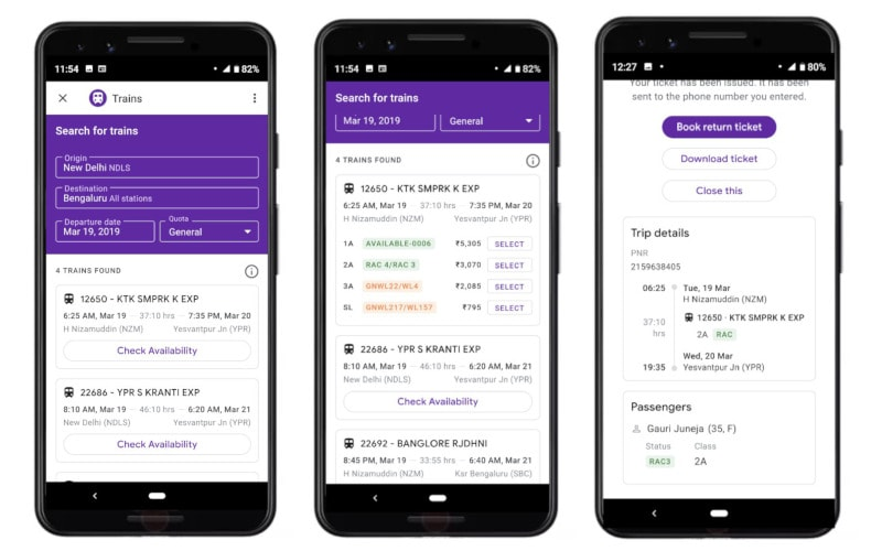 Google Pay Now Allows Train Ticket Bookings in India