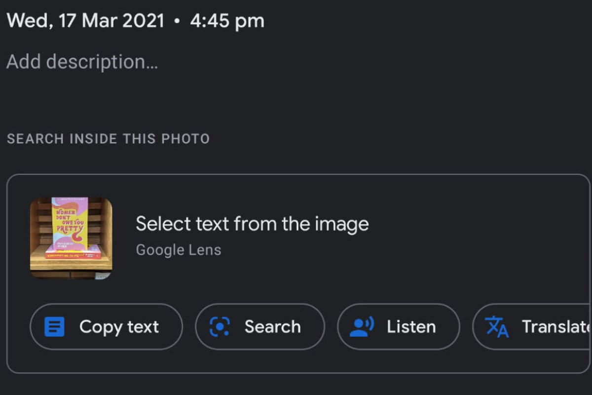Google Makes It Easier to Access Lens Features in Photos App