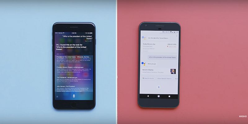 Google Assistant vs Apple's Siri: The Voice-Based Virtual Assistants Face Off on Video