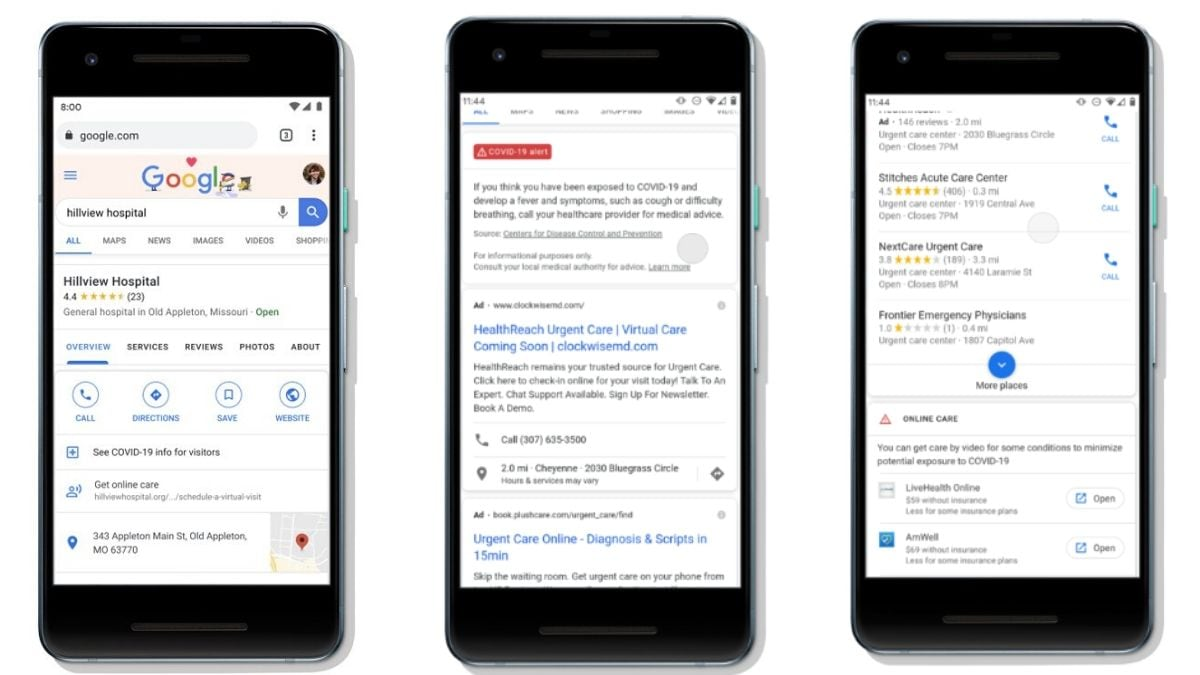 Google to Add New Search, Maps Features to Help Find Virtual Healthcare Options in the US