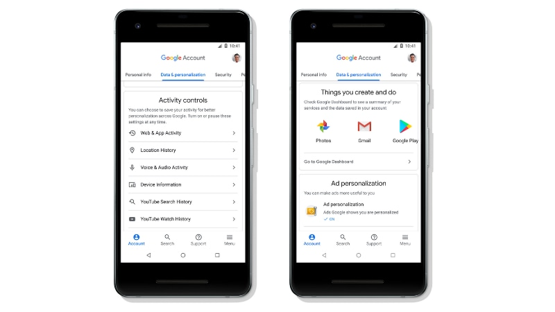google account activity controls Google Account