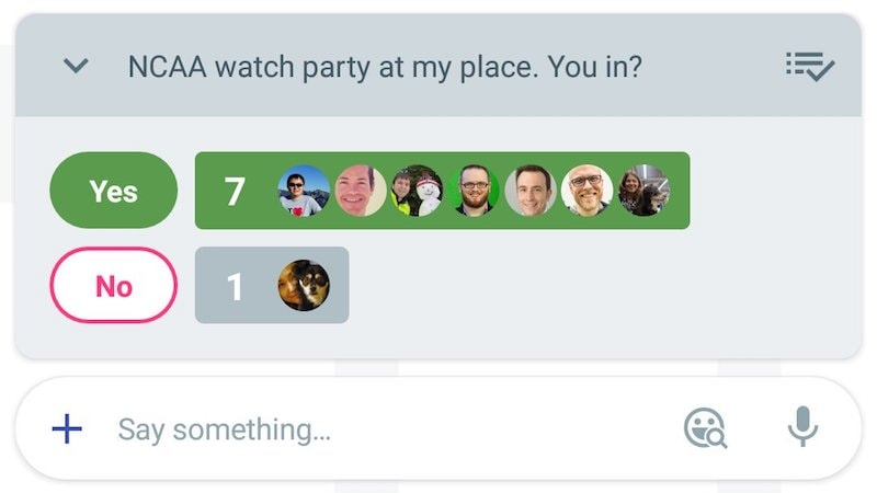 Google Allo Messaging App Gets 'Yes or No' Polling Feature