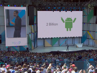 Google I/O 2017 By the Numbers: 2 Billion Android Devices, 500 Million Photos Users, and More