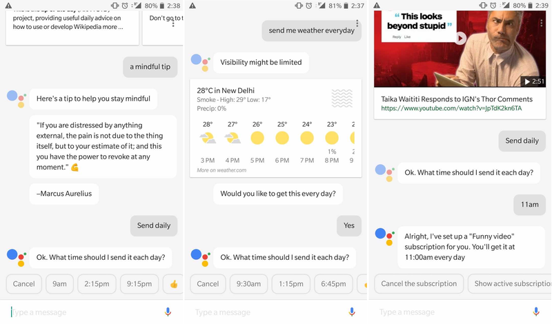 google assistant daily subscriptions Google Assistant  Google
