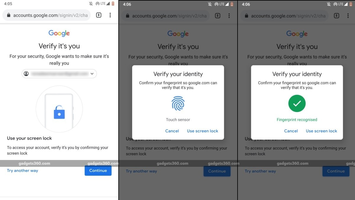 Google Begins Rollout of Local Fingerprint, PIN-Based Authentication for Web Services on Android Phones