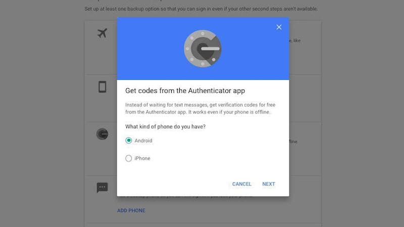 google authenticator app setup sc Google Authenticator