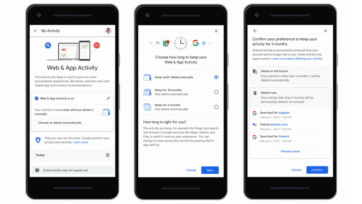 Google Enables Auto-Delete Feature for Location History, Activity Data on Android, iOS Devices