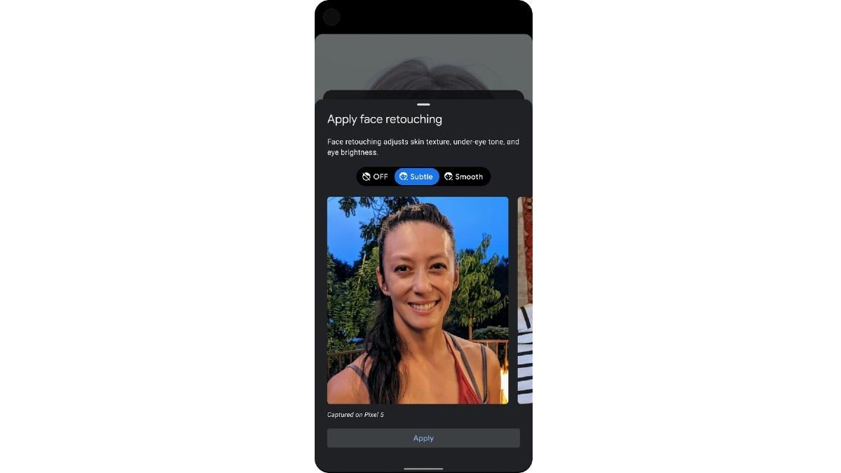 google camera app face retouching update Google Pixel 5  Google Pixel 4a 5G