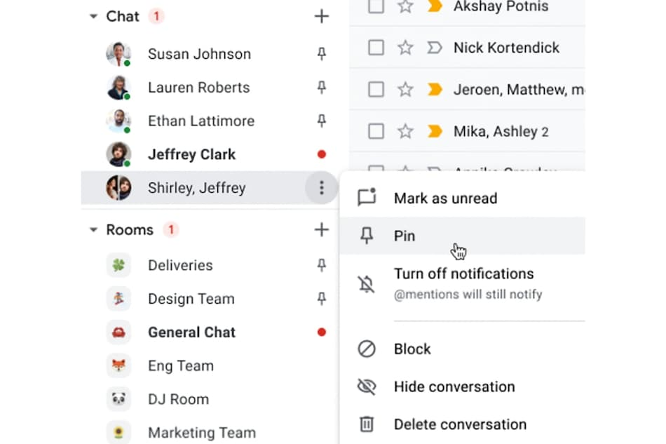 Google Chat Conversations Can Be Pinned on Gmail Through This New Feature