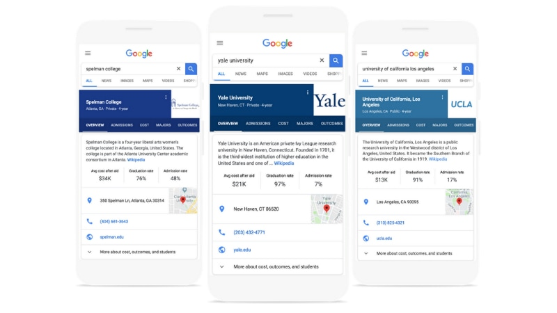 Google for Colleges Starts Rolling Out on Mobile and Desktop