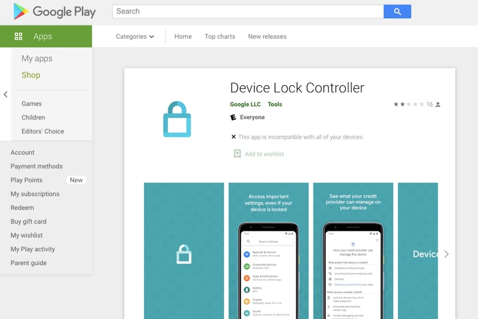 Google's Device Lock Controller App Allows Banks, Creditors to Remotely Lock Payment Defaulter's Phone