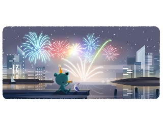 New Year's Eve: Google Ends the Decade With Fireworks Doodle