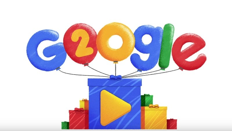 Google Marks 20th Anniversary With a Doodle