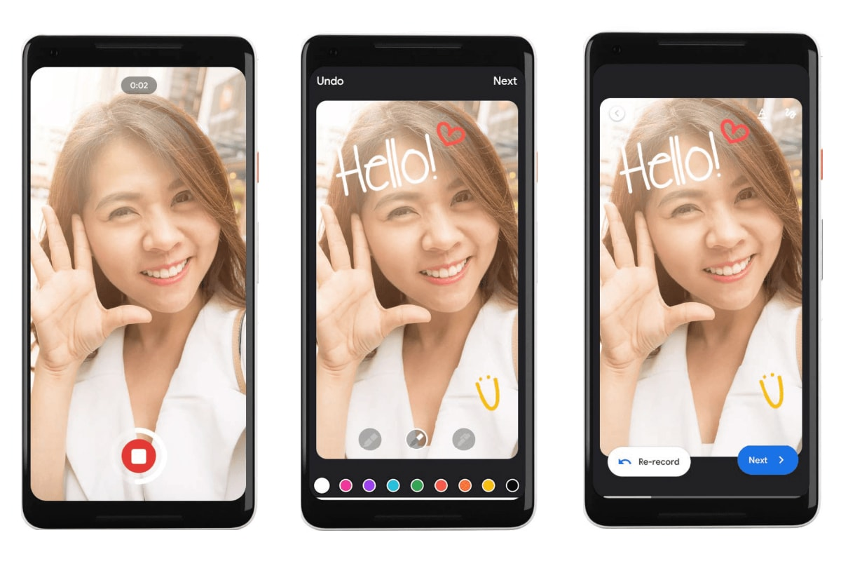google duo personalised video messaging feature Google Duo