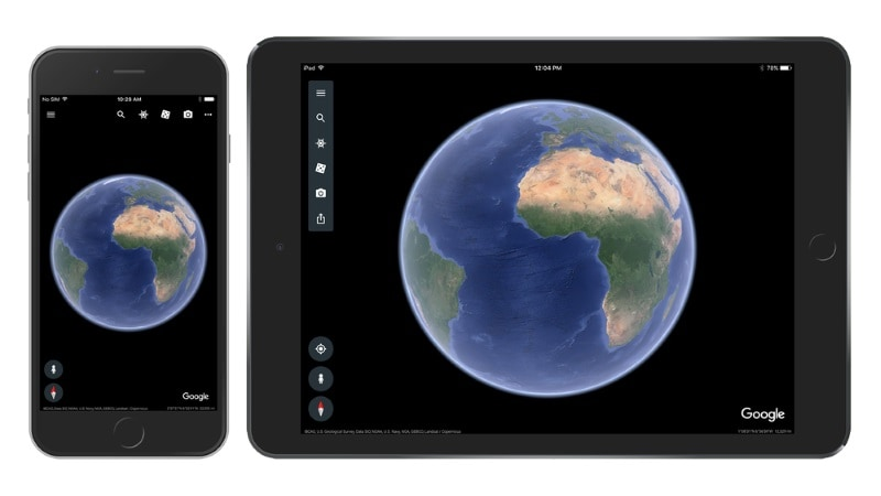 Google Earth Update for iOS Brings Redesign and Much-Needed 64-Bit Support