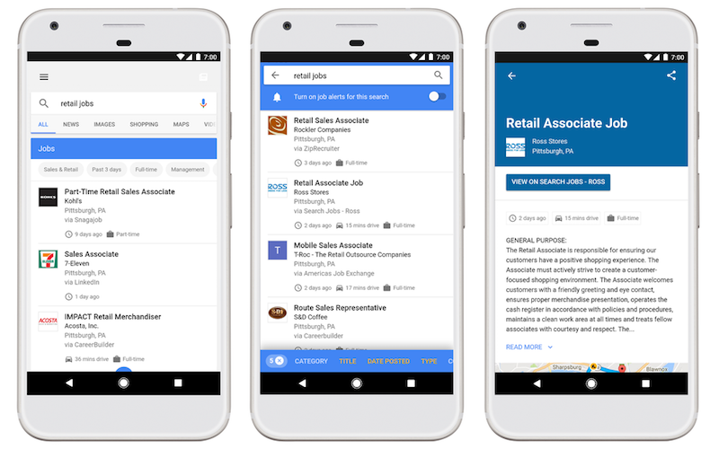 Google for Jobs Starts Rolling Out in Search on Desktop and Mobile