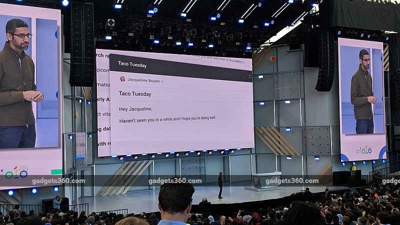 Google I/O 2018: Gmail to Get Smart Compose, Using Machine Learning to Offer Word and Phrase Suggestions