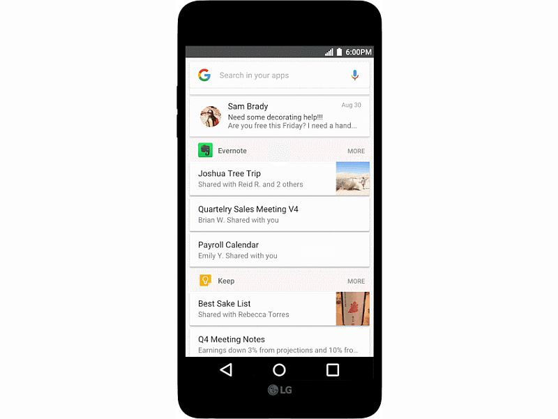 Google Unveils 'In Apps' Search for Android, Shows Content From Installed Apps