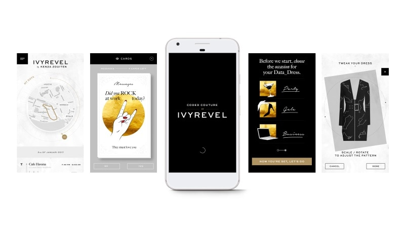 Google, H&M's Ivyrevel Partner for Coded Couture App to Make Customised 'Data Dresses'