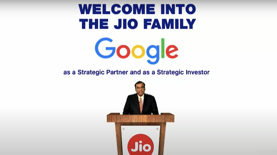 Jio Gets Rs. 33,737 Crores Investment From Google for 7.7 Percent Stake