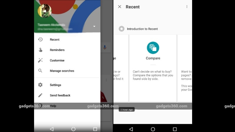 Google Search Gets a New 'Recent' Tab for Android