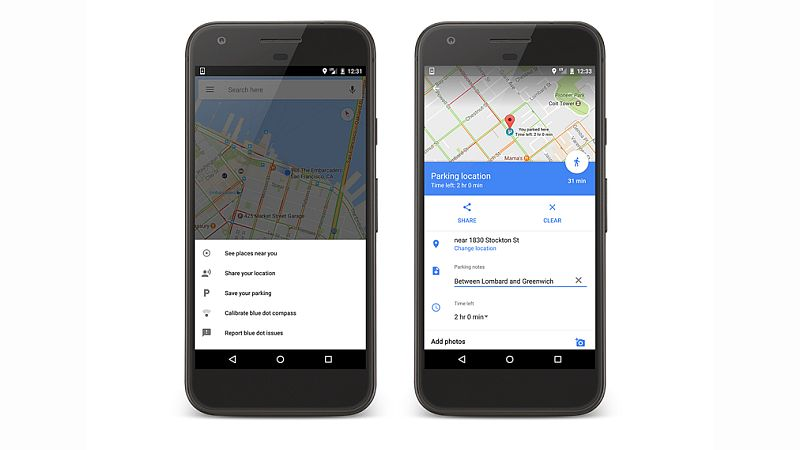 Google Maps now remembers where you parked