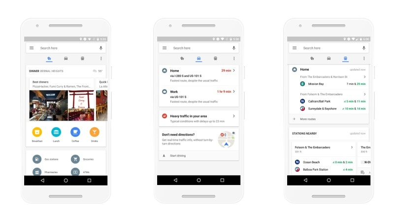 Google Maps for Android Redesigned for Easier Access to Useful Features