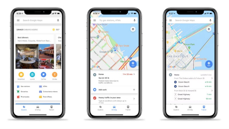 Google Maps for iOS Gets Bottom Bar With Place, Traffic, and Transit