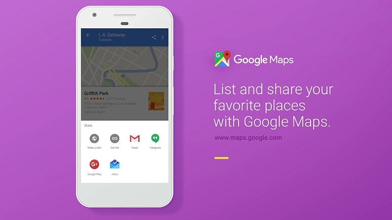 Google Maps Will Now Let You Create, Share, Follow 'Lists' of Places