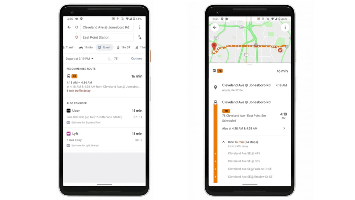 google maps live traffic delays buses update Google Maps
