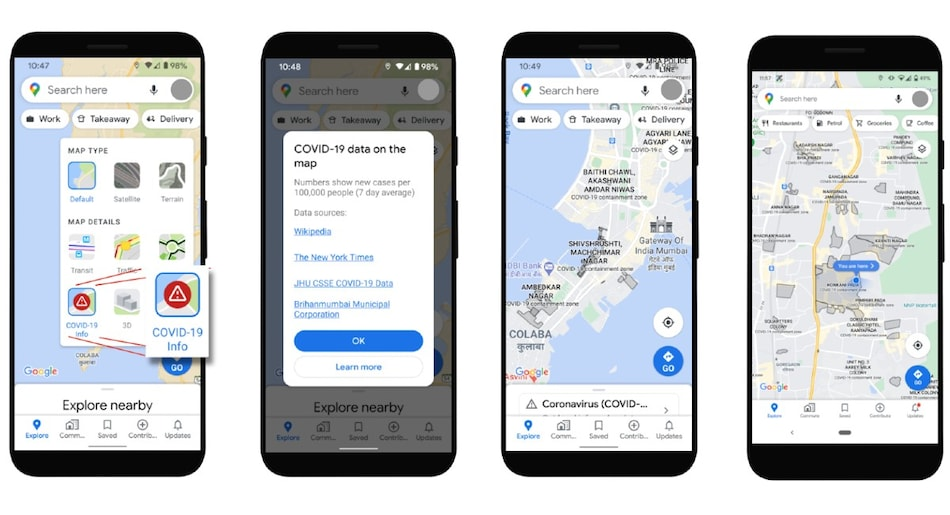 Google Maps Now Lets Users View COVID-19 Containment Zones in Mumbai